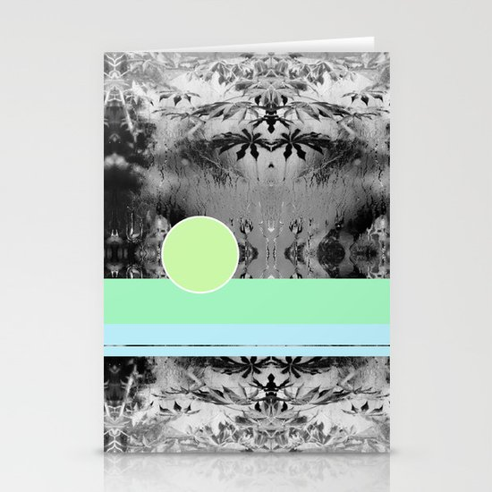 green circle Stationery Cards