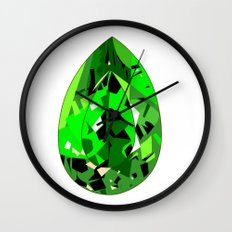 GEMS - green , expensive look , luxury and shine Wall Clock