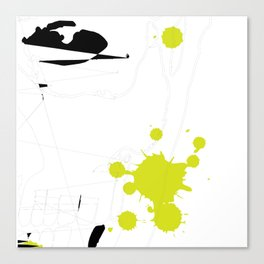 Lime Green Abstract Rick Genest Canvas Print