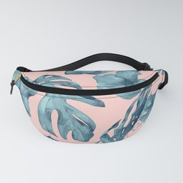 Island Life Teal on Light Pink Fanny Pack