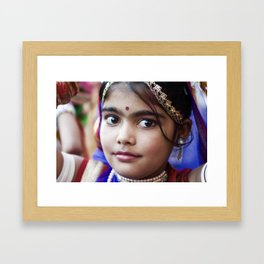 Young Girl, Udaipur, India Framed Art Print