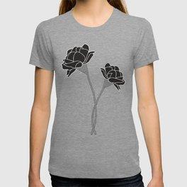 Flower Stems // Black T-shirt