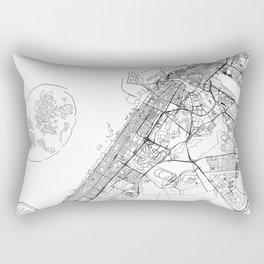 Dubai White Map Rectangular Pillow