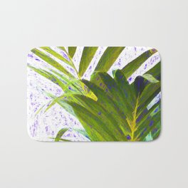 tropical plant. botanical art Bath Mat