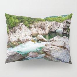 Glacial Turquoise River Verzasca, Lavertezzo, Sonogno, Switzerland photograph Pillow Sham