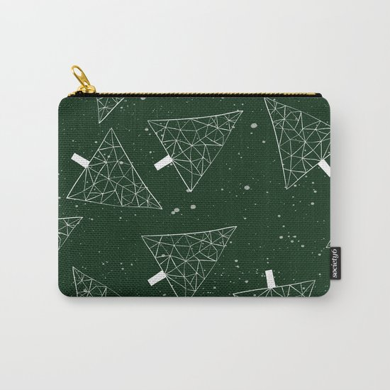 Christmas Trees Green Carry-All Pouch