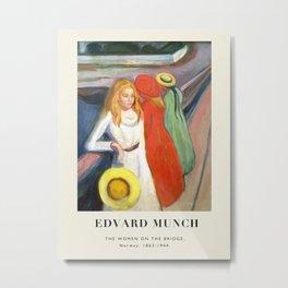 Vintage poster-Edvard Munch -The Woman on the bridge. Metal Print