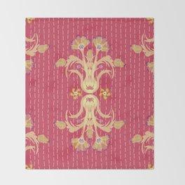 Kantha bouquet 7 Throw Blanket