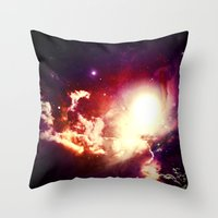 lumpy space princess Throw Pillows featuring Lumpy Space by S. Michelle Reese
