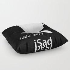 iSad 1955-2011 (White) Floor Pillow
