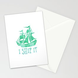 I Ship It - Watercolour Stationery Cards