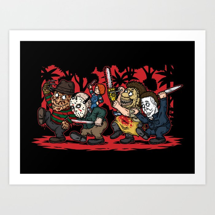 Where the Slashers Are (Full Color) Art Print
