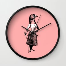 The Fencing Pigeon Wall Clock