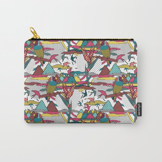 Pop art memphis 80's bird print Carry-All Pouch