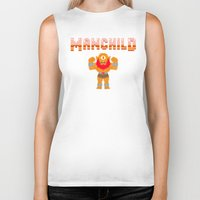 8bit Biker Tanks featuring 8Bit Manchild by manchildtees.com