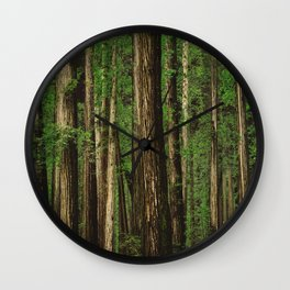 Sitting in the Forest Wall Clock