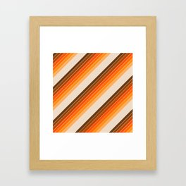 Tan Candy Stripe Framed Art Print