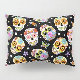 Day Of The Dead Pattern | Dia De Los Muertos Skull Pillow Sham