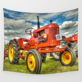 Red Tractor Wall Tapestry