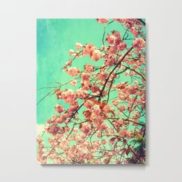 vintage Cherry blossoms  Metal Print