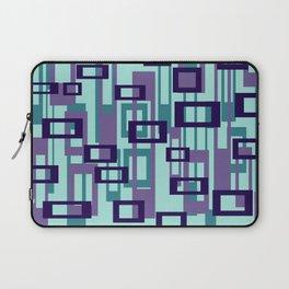 Geometric rectangles pattern violet Laptop Sleeve