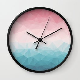 The Colorful Low Poly I Wall Clock