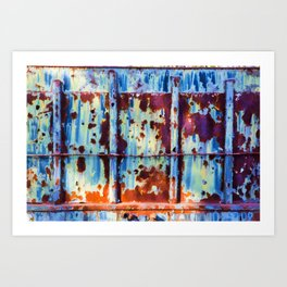 Colorful Rust Abstract II Art Print