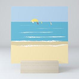 Sails from the beach Mini Art Print