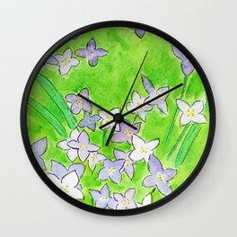Innocence (Bluets, Quaker-Ladies) Wall Clock