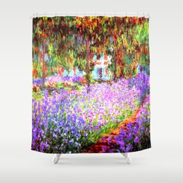 Monets Garden in Giverny Shower Curtain