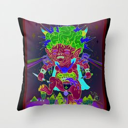Bulb Brain Lurk Goblins Throw Pillow