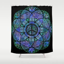 Love, Peace and Happiness Shower Curtain