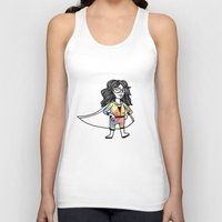 super hero Tank Tops featuring Super Hero by Olivia Infante