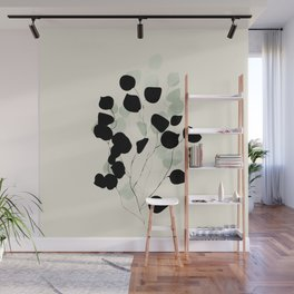 minimal leaves eucalyptus Wall Mural