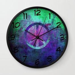 Peace II Wall Clock