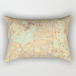 New Delhi Map Retro Rectangular Pillow