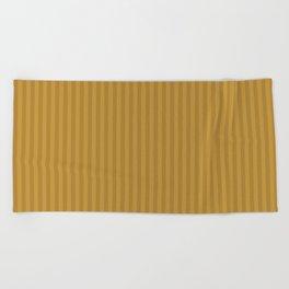Ochre + Goldenrod Stripe Beach Towel