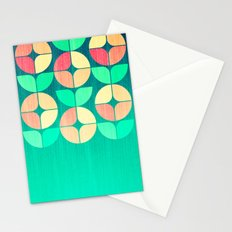 Cherry Denim Pattern Stationery Cards