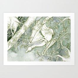 Chaudeleau the Green Marsh Dragon Art Print