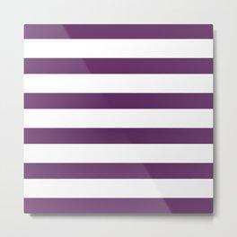 Purple & White Stripes | Digital Design Metal Print