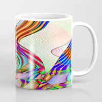techno Mugs featuring techno-doodle by David  Gough