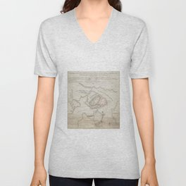Vintage Battle of Bunker Hill Map (1775) Unisex V-Neck