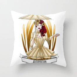 Steampunk Occupation Series: Automaton Throw Pillow