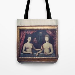 """""""Gabrielle d'Estrées and one of her sisters"""" Tote Bag"""