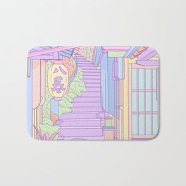 Lost in the Alleys of Japan Bath Mat