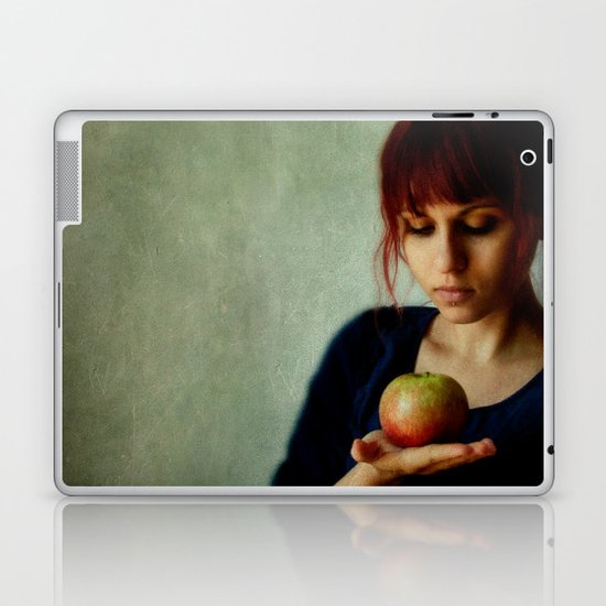 the girl with the apple Laptop & iPad Skin