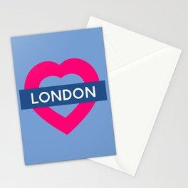 London Heart Stationery Cards