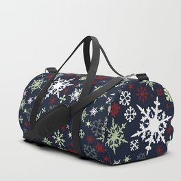 Christmas pattern with snowflakes Duffle Bag