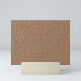 Circular Beige Pattern Mini Art Print