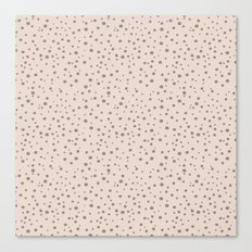 PolkaDots-Taupe on Peach Canvas Print